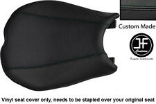 Vinilo negro automotriz Personalizado se ajusta DUCATI 848 1098 1198 frente cubierta de asiento solamente