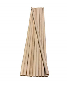 Wood Dowel Rod 1/4 x 12 Inches 10 Pieces