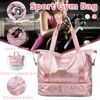 Waterproof Sport Gym Fitness Duffel Handbag Bag Travel Shouder Daypack Tote #