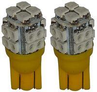 2x ampoule T10 W5W 12V 20LED SMD jaune veilleuses éclairage intérieur coffre