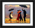 Singing Butler 2x Matted 36x28 Large Framed Art Print by Jack Vettriano