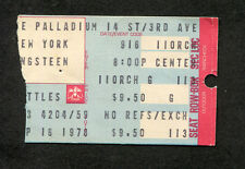 Bruce Springsteen 1978 Concert Ticket Stub New York Darkness On The Edge of Town