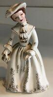 "Vintage 5 3/4"" Japan Napco Figurine Miss Laureen Victorian Lady #B2885"