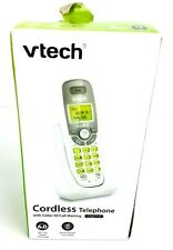 Vtech ~ Cordless Phone with Caller Id ~ Cs6114 Dect 6.0 - White/Grey ~ Used