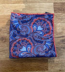 HEMLEY 100% Silk Pocket Square Handkerchief Brand New RRP £25