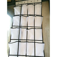 Over the Door Shoe Organizer 24 Large Mesh Pockets Non Woven Fabric Storage Bag