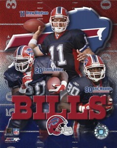 Buffalo Bills 8x10 Photo Travis Henry Drew Bledsoe Eric Moulds