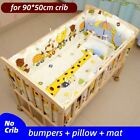 Baby Crib Bumper For Girl Boy Infant Bedding Set Pillow Cotton Mat Baby Supply