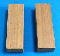 "2 Pcs. Walnut 1"" x 1.5"" x 5"" Wood Knife Handle Material Blanks Scales"