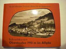 uraltes s/w Leporello  OBERSTAUFEN im Allgäu  um 1950