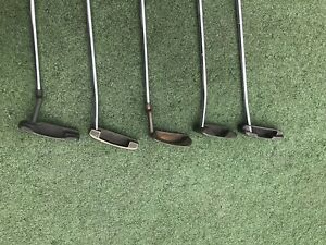 Classic Ping Putters (5) From Late 1960's Fabulous Condition W/ Anser Dalehead!