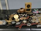VINTAGE+JUNK+DRAWER+COLLECTIBLE+MIXED+LOT+WATCHES+COINS+MILITARY+BUCKLES+LOT