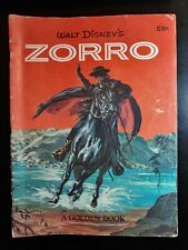 Walt Disney's Zorro 1958 in a Large Format Golden Book COLLECTIBLE & SCARCE