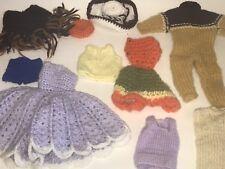 Vintage Barbie Ken Maison Maman Fabriqué Crocheté Pull Tricot Vêtements Élégant