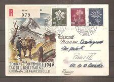 LETTRE COVER SUISSE SWITZERLAND SCHWEIZ FDC 1946 PRO JUVENTUTE