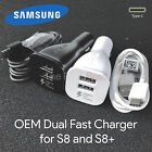 New OEM Adaptive Fast Charging Dual-Port Car Charger Samsung Galaxy S8 USB C