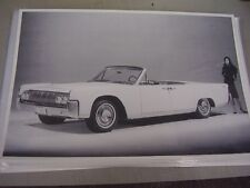 1964  LINCOLN   CONVERTIBLE  12 X 18 LARGE PICTURE / PHOTO