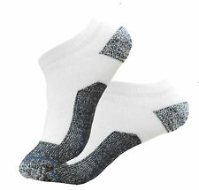 4 PAIR LOWCUT PREMIUM QUALITY HEAVY THICK SOCKS COTTON WHITE NO SHOW SOCKS