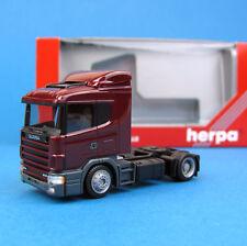 Herpa H0 146166 SCANIA 124 Sattel-Zugmaschine Weinrot OVP HO 1:87