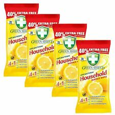 NEW Clean & Shine Lemon Anti-Bacterial Household Surface Wipes 280 Large Sheets