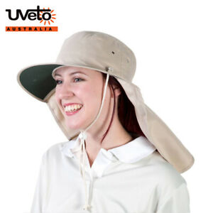 UVeto Tammin Hat Wide Brim with Neckflap UPF50+ Sun Protection
