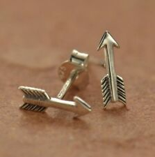 Tiny Sterling Silver .925 Boho Arrow Stud Post Earrings - Mom Wife Girl Gift