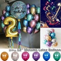 Metallic Chrome Balloons Latex Shiny Balloons Bouquet Dating Wedding Party Decor