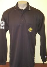 College SEC NCAA offical Cliff Keen Black Referee Long Sleeve Jersey Shirt Sz XL