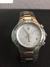 TAG HEUER Gents Kirium Chronograph White Dial Steel Case CL1110-0 Quartz