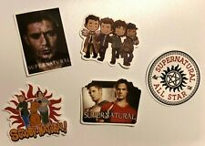Set of 5 Supernatural Stickers- Featuring Sam, Dean, Castiel and Scooby Gang