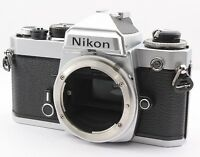 Excellent Nikon FE 35mm SLR Film Camera Body Only Silver from Japan