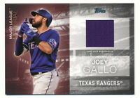 JOEY GALLO 2020 TOPPS MAJOR LEAGUE MATERIAL GAME-USED JERSEY RANGERS