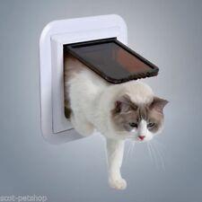 Chatière manuelle blancs pour chat