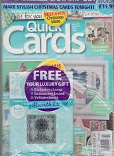 QUICK CARDS MADE EASY MAGAZINE FREE 2-IN-1 YOUR LUXURY GIFT ISSUE 119 NOV 2013