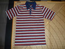 MENS MEDIUM RED/WHITE/BLUE/GRAY VINTAGE MADMEN STYLE JC PENNEY SHIRT - NOS