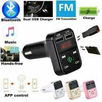 Neu Car Kit Handsfree Bluetooth FM Transmitter LCD Charger heiß Player MP3 W1K7