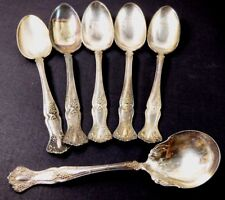 VTG 1847 Rogers Bros Silver plate lot of 6 tea sugar spoon Berry Grape pattern