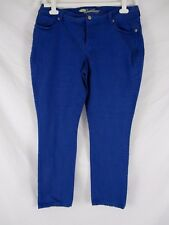 Old Navy Sweetheart Womens Skinny Blue Sz 14 Stretch Tapered Casual CB61U