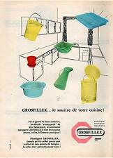 ▬► PUBLICITE ADVERTISING USTENSILES MÉNAGERS GROSFILLEX  (1956)