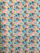BB FABRIC - BLUEY & FRIENDS - 50cm x 140cm wide poly cotton sewing quilting