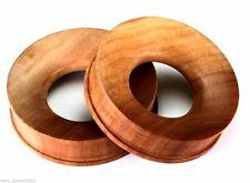 "PAIR-Wood Saba Double Flare Ear Tunnels 42mm/1-11/16"" Big Gauge Body Jewelry"