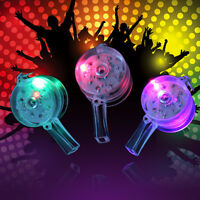 Flashing Whistle Colour Lanyard LED Light Up Fun In the Dark Party Rave Hot Sale