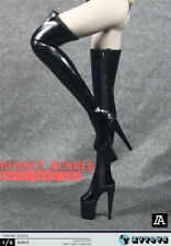 1/6 Fashion Over The Knee High Heel Boots HOLLOW For PHICEN Female Figure ☆USA☆