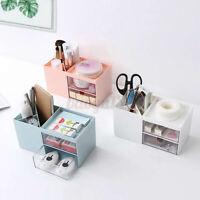 Pen Holder Desk Desktop Stationary Organizer Cosmetic Storage Box Home Office