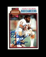 Dewey Selmon Hand Signed 1979 Topps Tampa Bay Buccaneers Autograph