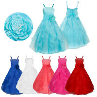 Flower Girls Dress Princess Party Pageant Bridesmaid Wedding Prom Formal Gown