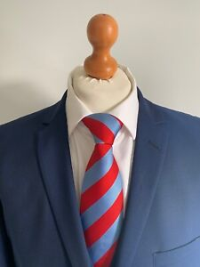 """Mens LUXURY TED BAKER """"ENDURANCE"""" 3 PIECE WOOL SUIT In ROYAL BLUE 44R *EX-CON*"""