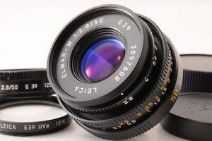 【TOP MINT+】Leica ELMAR-M 50mm F/2.8 Black E39 m Mount Lens + Hood Flter Caps JP