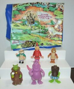 1985 Vintage World of Wonders TEDDY RUXPIN Poseable Figures LOT + Vinyl MAP