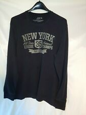 Old Navy Xl Men's Thermal Shirt Long Sleeve Blue Xlarge Crewneck